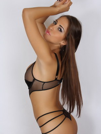 Amber J In A Very Skimpy Mesh Outfit 05