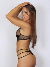 Amber J In A Very Skimpy Mesh Outfit 07