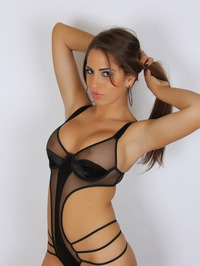 Amber J In A Very Skimpy Mesh Outfit 08