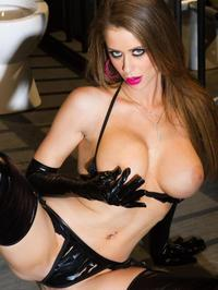 Emily Addison In Sexy Rubber Lingerie 00