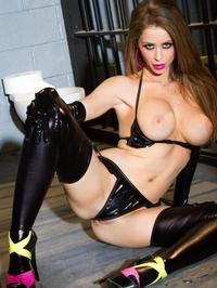 Emily Addison In Sexy Rubber Lingerie 01