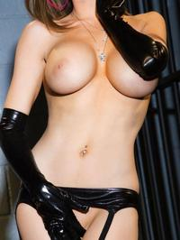 Emily Addison In Sexy Rubber Lingerie 06