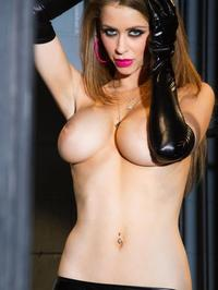 Emily Addison In Sexy Rubber Lingerie 07