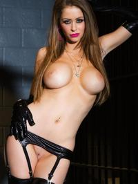 Emily Addison In Sexy Rubber Lingerie 13