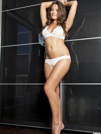 Jessica Workman white lingerie 01