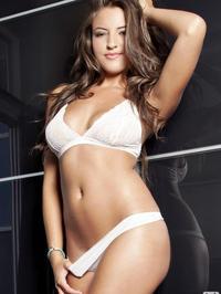 Jessica Workman white lingerie 02