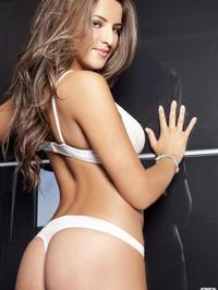 Jessica Workman white lingerie 05