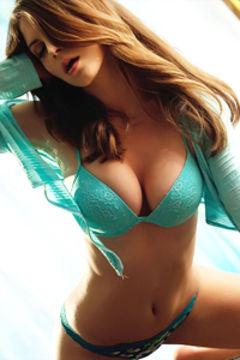 Amber Sym sensually lingerie