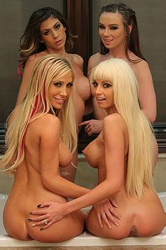 Four Hot Babes' Upskirts