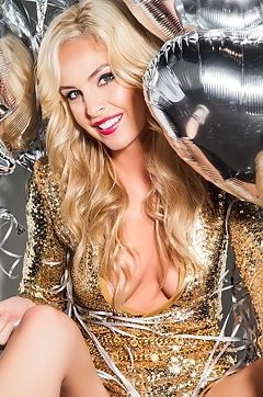 Michelle McLaughlin In Glitter And Gold