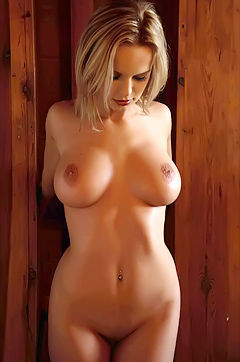 Peaches Busty Nude Babe Posing
