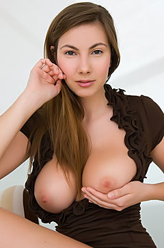 Busty Josephine Naked On The Armchair