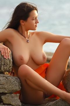 Busty Sofi Posing Outdoor