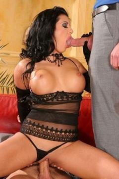 Amanda Playing With Two Big Cocks