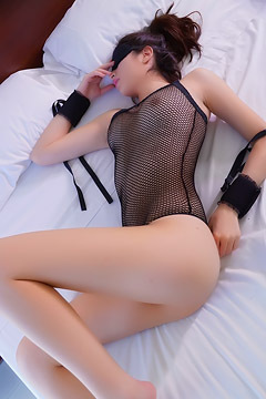 Arissa In Sexy Black Fishnet Lingerie