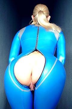Tall Goddess blue latex