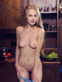 Bright eyed beauty Nancy A is in the kitchen 08
