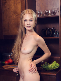Bright eyed beauty Nancy A is in the kitchen 10