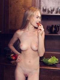 Bright eyed beauty Nancy A is in the kitchen 15