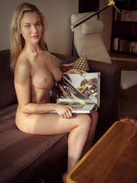Tight blue jeans, white T-shirt, long blonde hair, blue eyes and big, round breasts - Caroline Abel 20