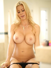 Busty Blonde MILF Alexis Fawx Undressing 13