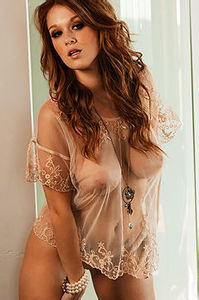 Leanna Decker Boobs Can Be Seen Thru Her Sexy Lingerie