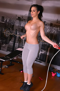Nekane Gets Horny In Gym
